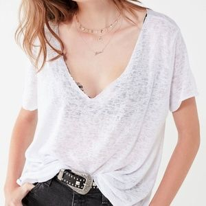 Project Social T Textured Knit V-Neck Tee
